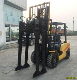Kết cấu bộ kẹp gạch ngang trên xe nâng hàng 3 tấn