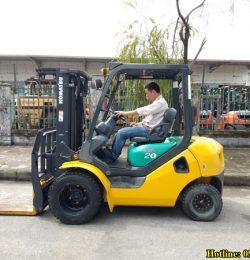Mua xe nâng Nhật bãi, mua xe nâng Komatsu cũ nhập nguyên container