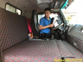 Mẫu giường xe tải chất liệu da cao cấp 2021